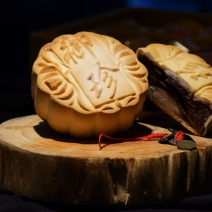 【台北御珍】中秋月餅-提漿月餅4入禮盒(豆沙)