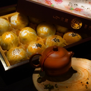 【台北御珍】中秋限定/圓形一般禮盒15入(蛋黃酥綜合)