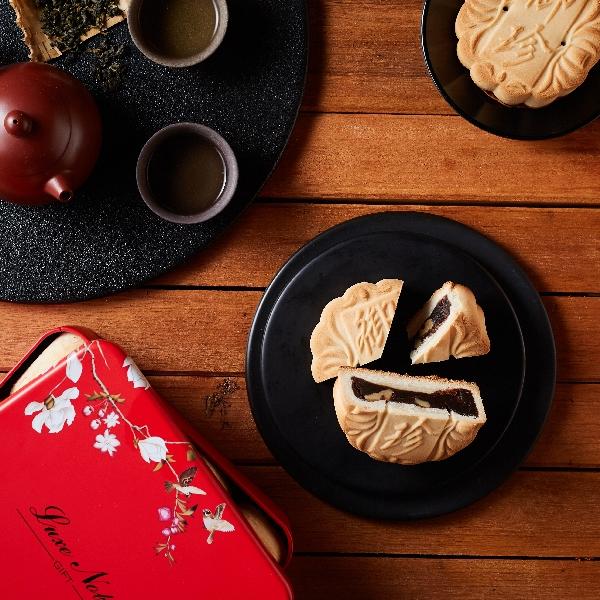 【台北御珍】中秋月餅-提漿月餅4入禮盒(黑芝麻)